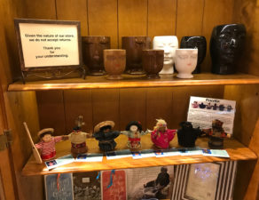 Image showing the display at our first shop